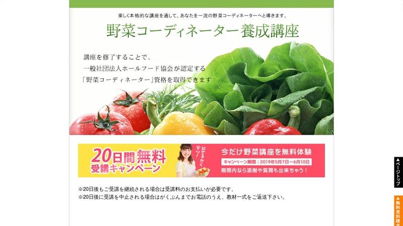 野菜コーディネーターサイトイメージ